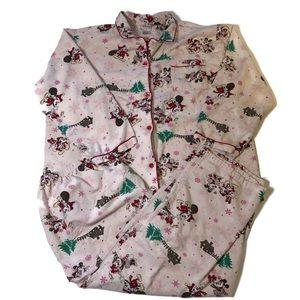 Disney Mickey Christmas flannel pajamas size XXL